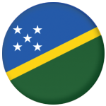 Solomon Islands Country Flag 58mm Mirror Keyring